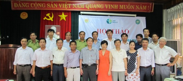 Edwards's Pheasant Conservation Workshop on 9th July 2014 in Quang Tri, Vietnam