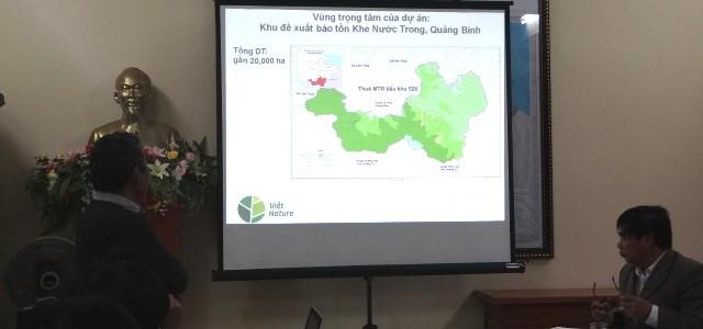 Việt Nature – Thuê môi trường rừng phòng hộ để nghiên cứu khoa học và bảo tồn dài hạn tại Khe Nước Trong, Lệ Thủy, Quảng Bình.