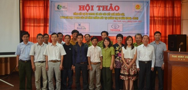 The closing workshop of the Toyota project and results of the status assessment of rattan planting models in Quang Tri in 10 years (2004-2014)